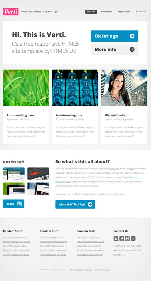 Free Responsive PSD Website Templates | ArtfulClub