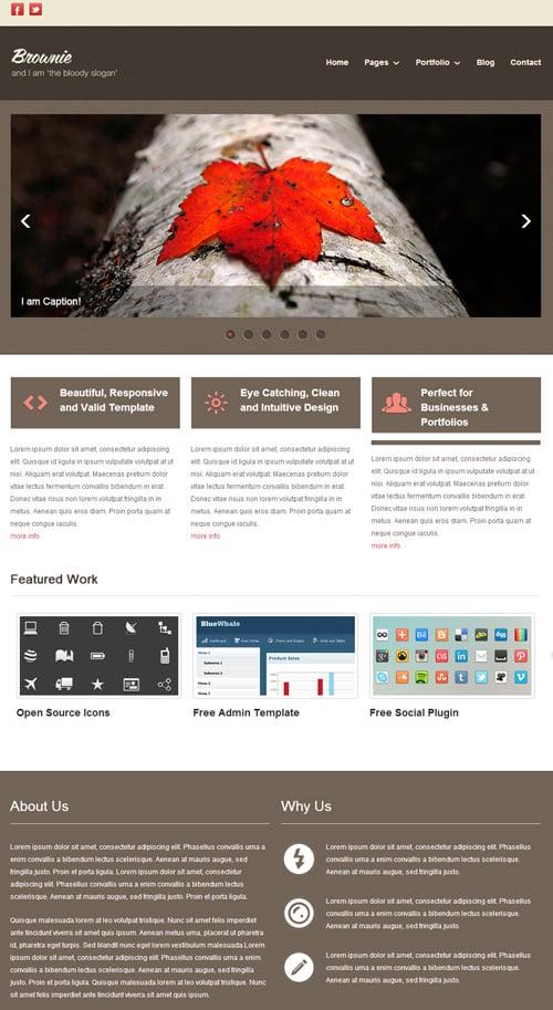 Responsive Web Templates PSD