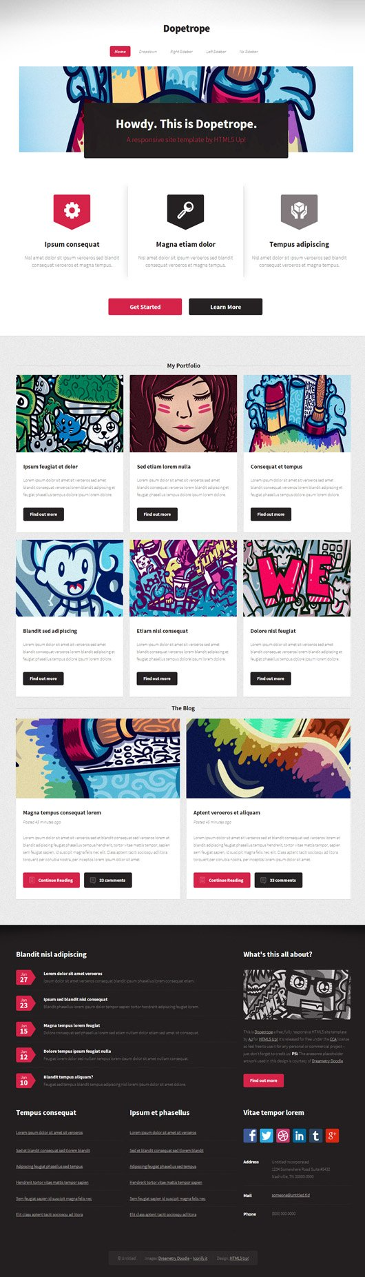 Free Responsive PSD Website Templates | ArtfulClub