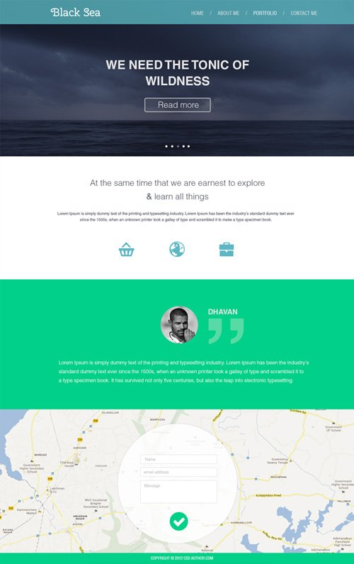 30 free responsive psd website templates for Free website design templates