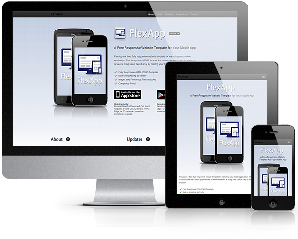 30 free responsive psd website templatespixel2pixel design for Free mobile site template download