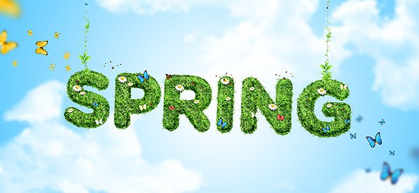 Free Spring Background PSD