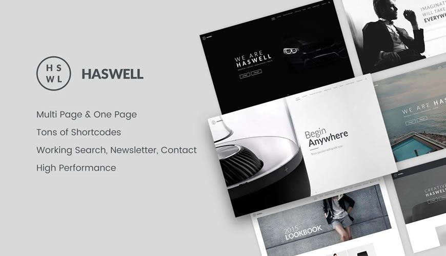 Haswell Multipurpose One & Multi Page Template