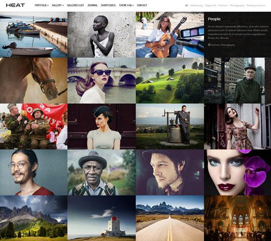 Heat Premium Portfolio WordPress Theme