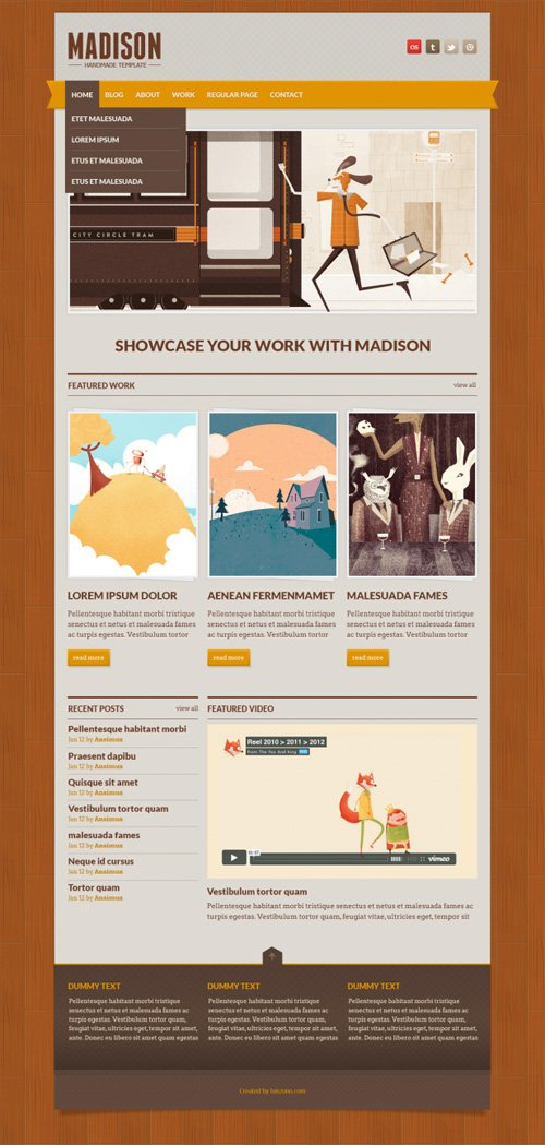Madison – Free PSD Template