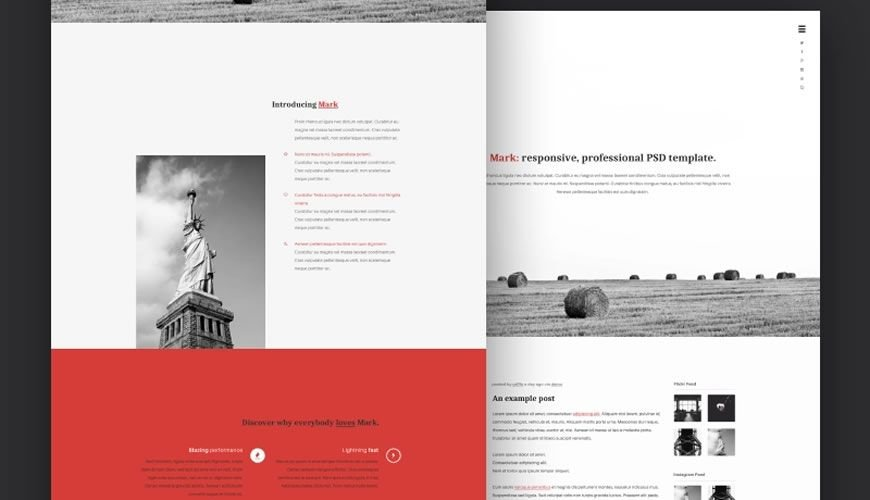 Mark PSD Personal Template