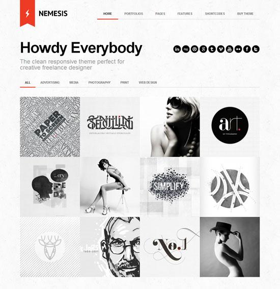 Nemesis Clean Design For Creative Designer