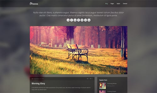 Obscura – Free Responsive HTML Template