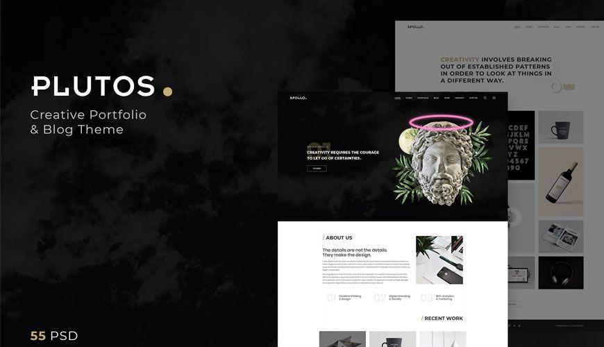 Plutos Creative Portfolio & Blog Template