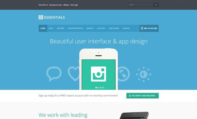 Essentials flat WordPress theme