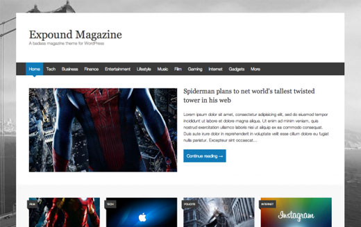 Expound Magazine Theme