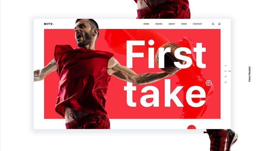 MITV Website PSD Web Template Adobe Photoshop