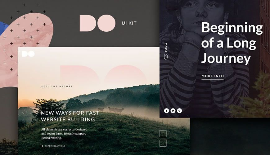 The DO Website Hero PSD Web Template Adobe Photoshop