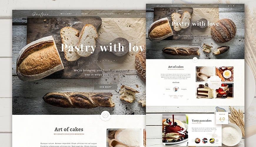 The Bakery Website PSD Web Template Adobe Photoshop