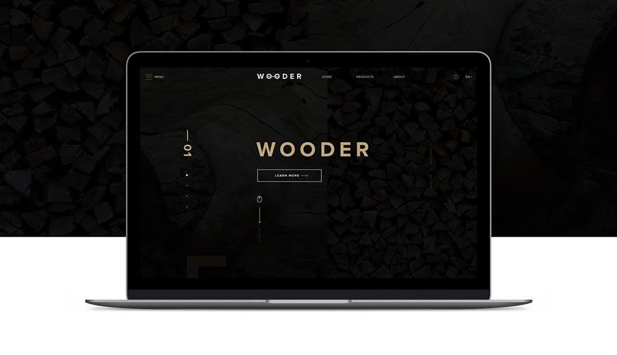 Wooder PSD Web Template Adobe Photoshop