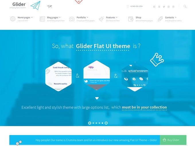 Glider flat WordPress theme