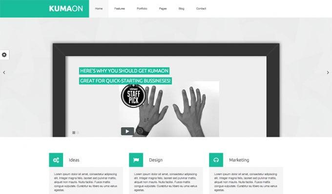 Kumaon flat WordPress theme