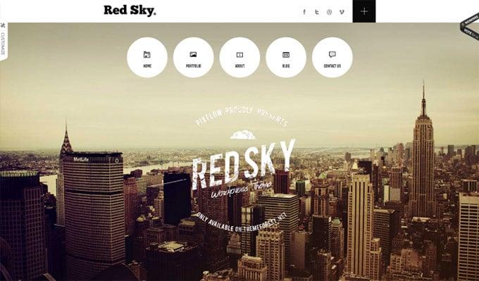 Red Sky flat WordPress theme