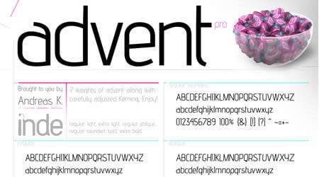 Download Advent font