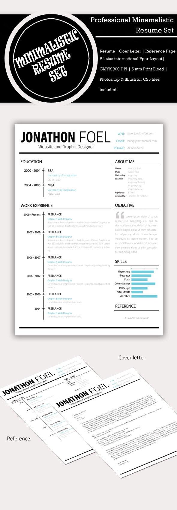 minimalist design resume