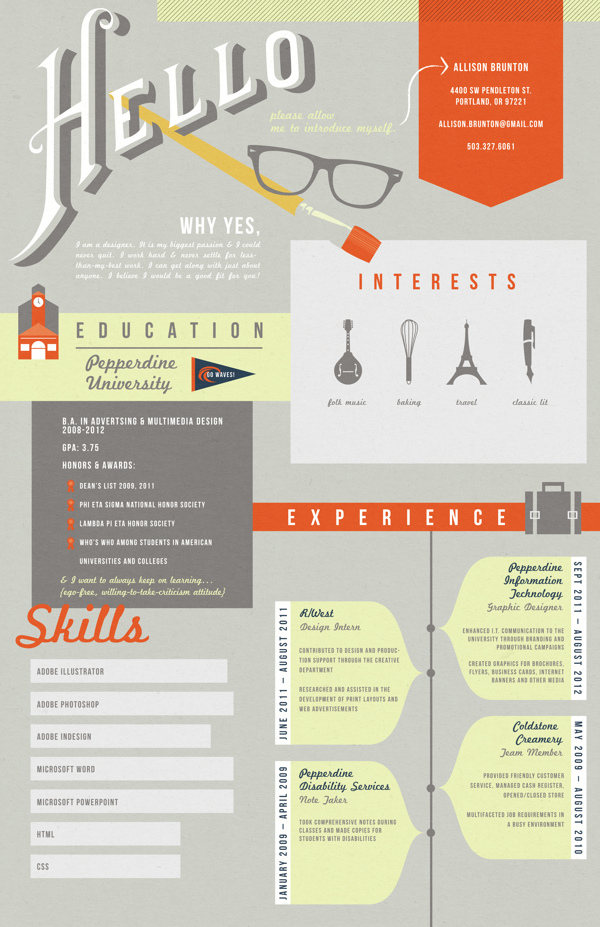 create an infographic resumes