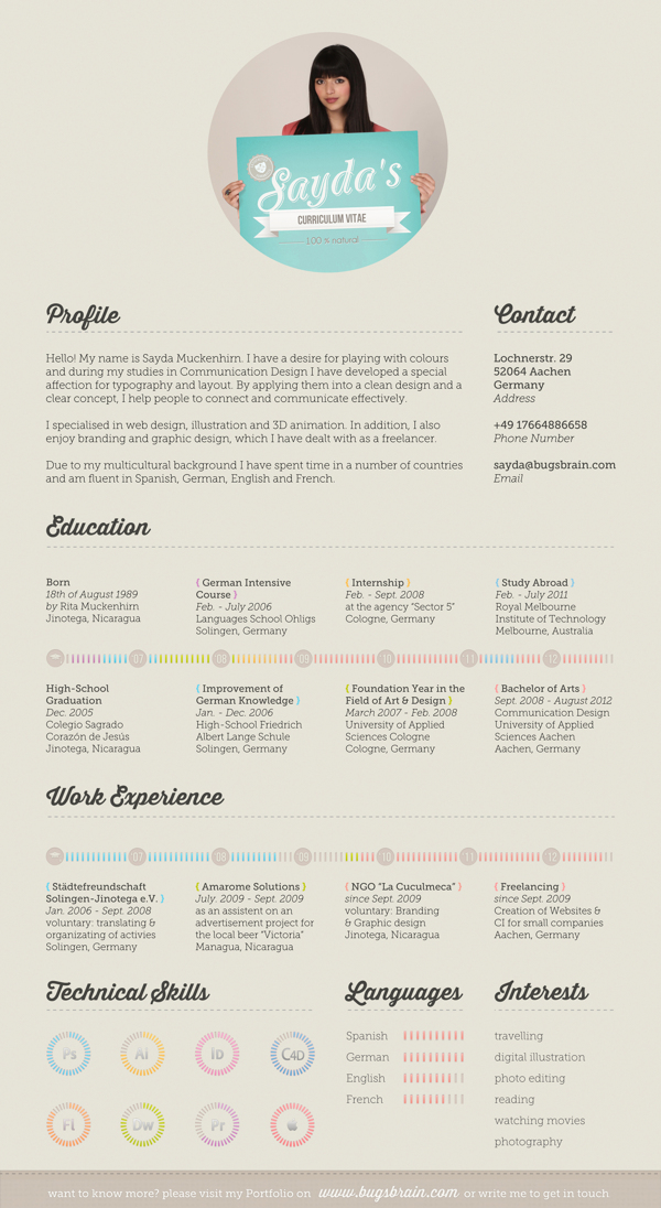 30+ Examples Of Creative Graphic Design Resumes (Infographics