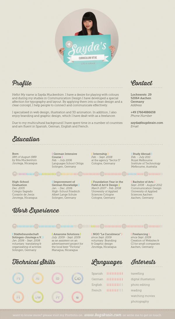 30 creative resume designs