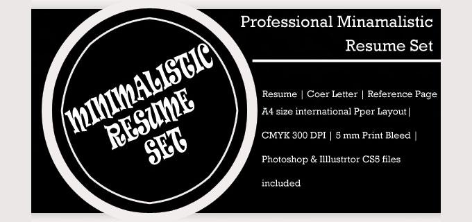 freebie  minimalistic psd resume template
