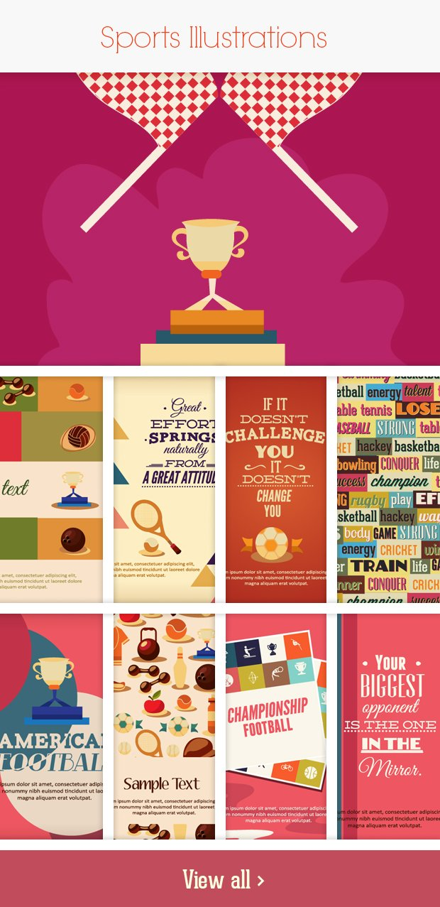 sports small Deal of the Week: 600+ Top Quality Vector Illustrations – Only $49