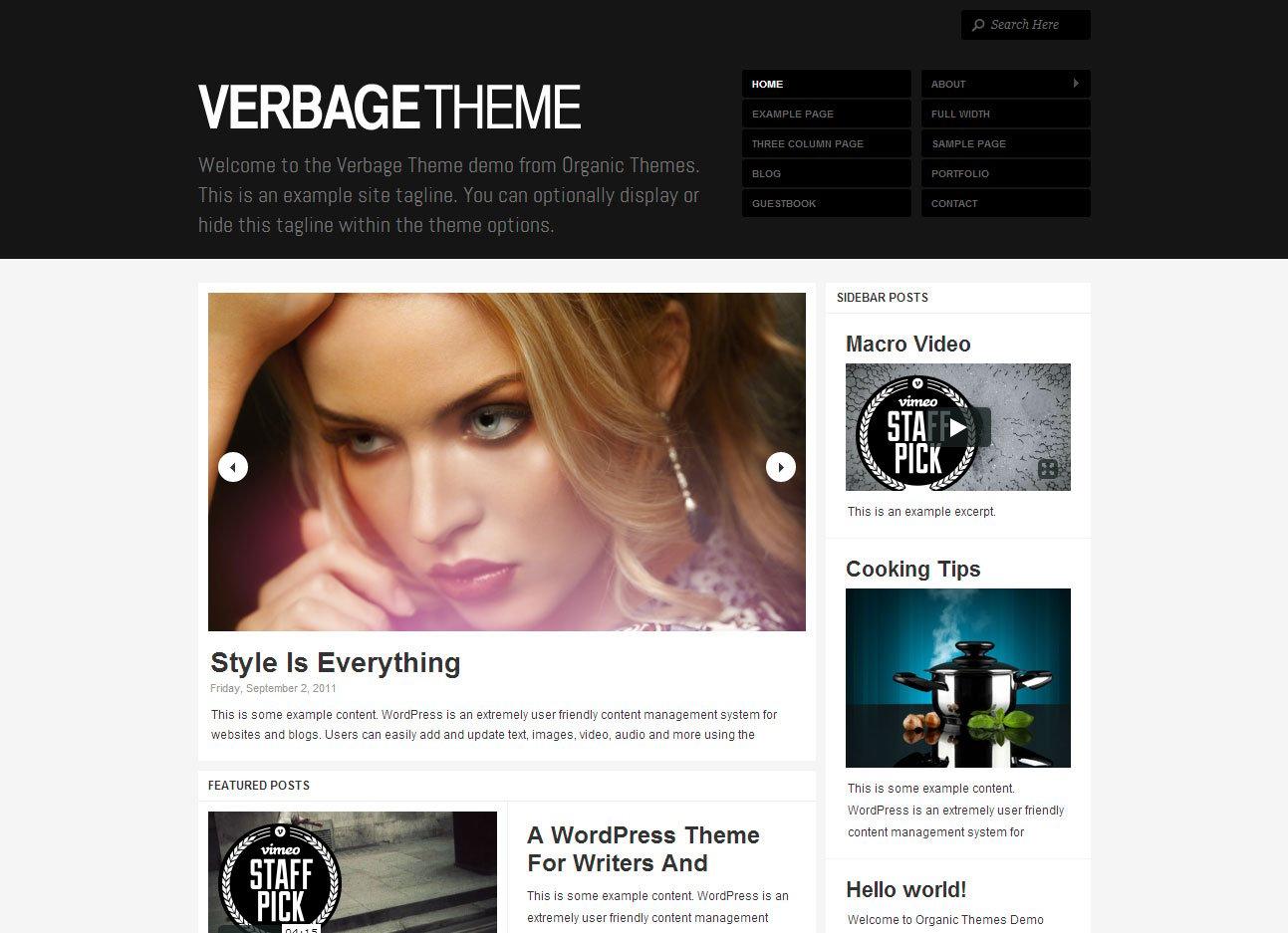 Organic-Verbage-Theme