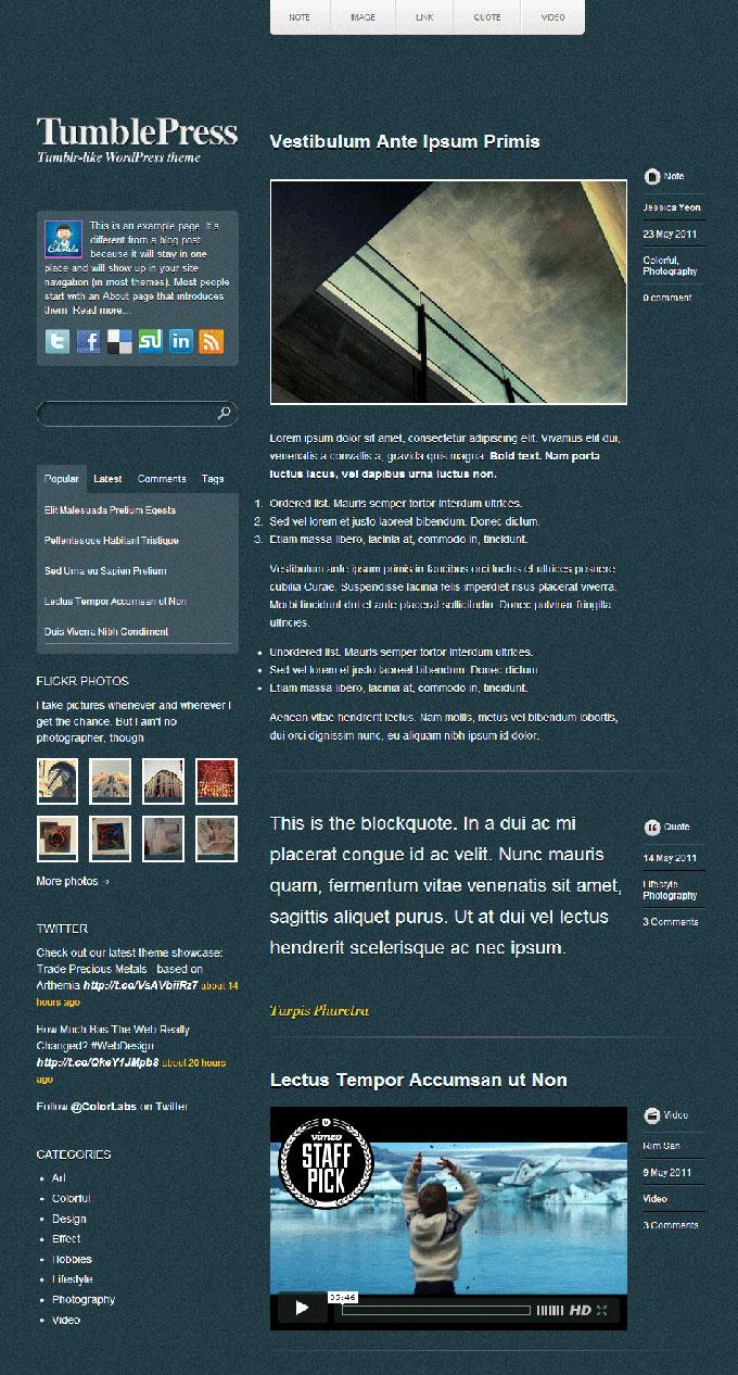 TumblePress---Free-Tumblr-WordPress-Theme
