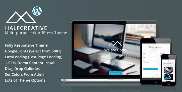 HalfCreative WordPress Theme