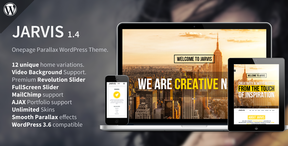 Jarvis WordPress Theme