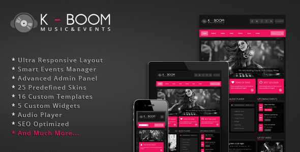 K-BOOM WordPress Theme