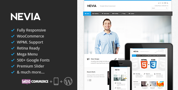 Nevia WordPress Theme
