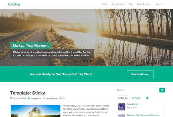 Dazzling Free WordPress Themes