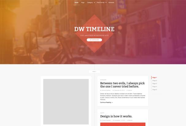 DW Timeline WordPress Themes