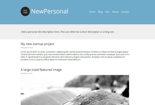 NewPersonal WordPress Themes