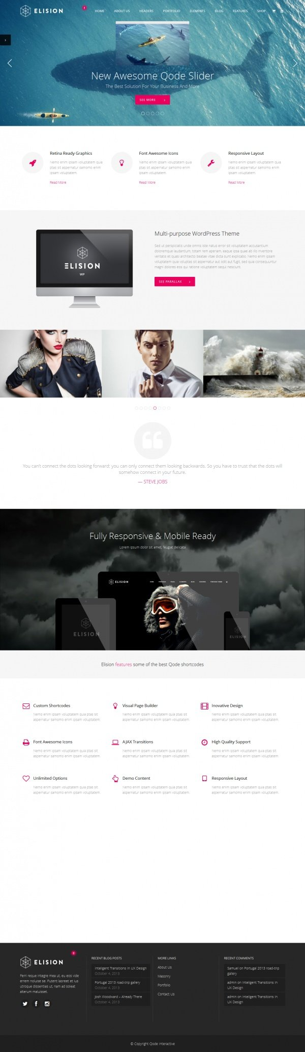 Elision Best Creative WordPress Themes June