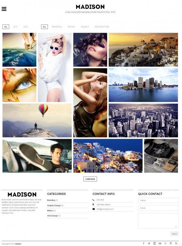 Madison Best Creative WordPress Themes June