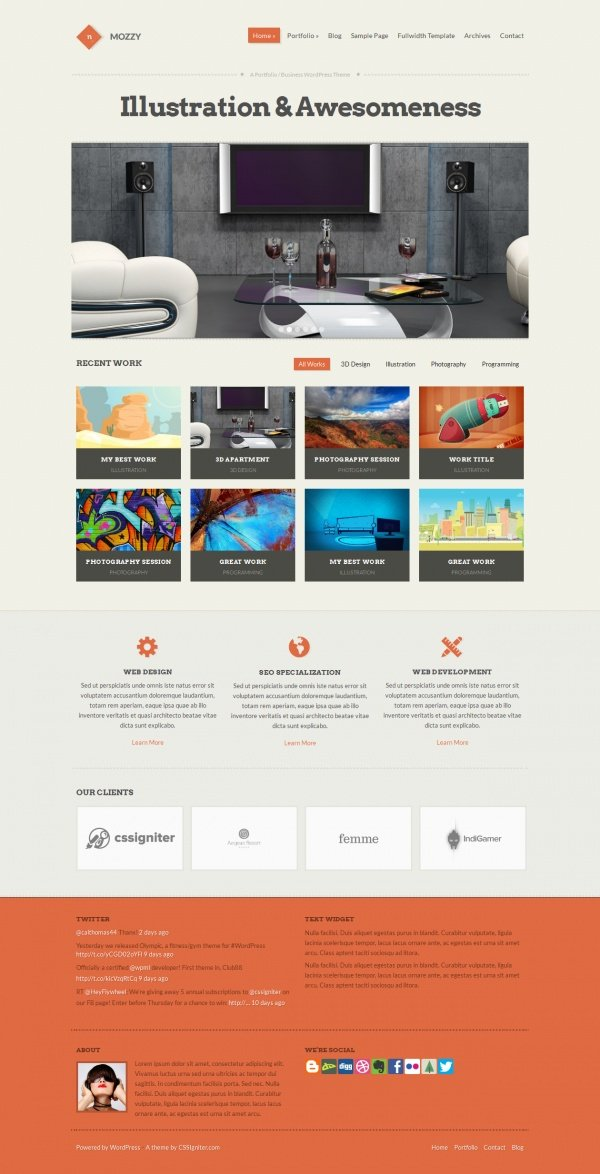Mozzy Best Creative WordPress Themes June