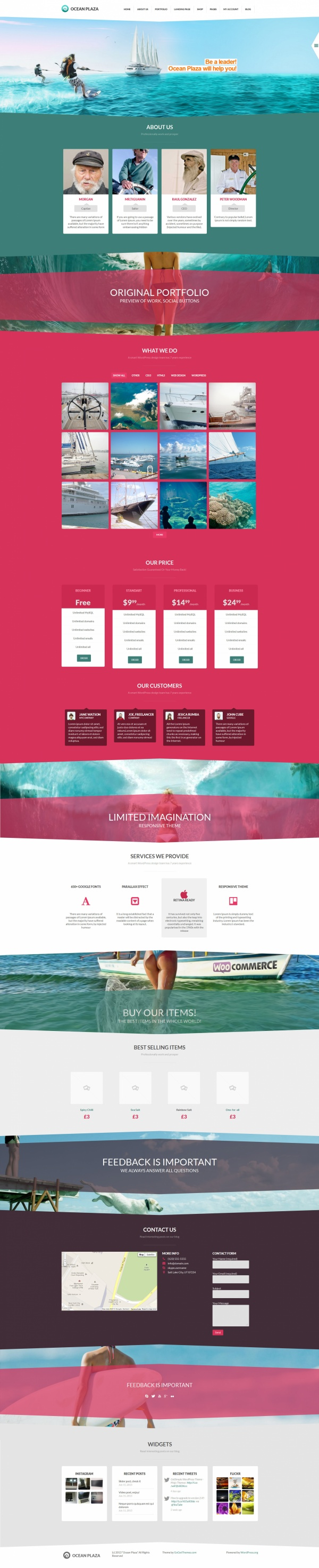 OceanPlaza Best Creative WordPress Themes June