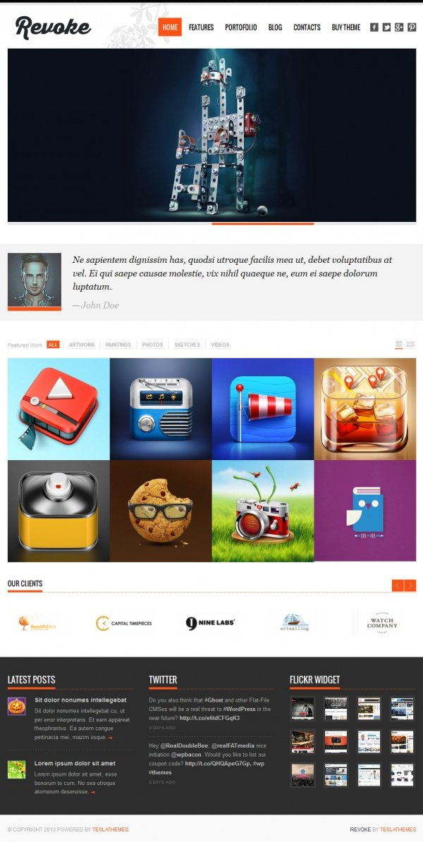 Revoke Best Creative WordPress Themes June