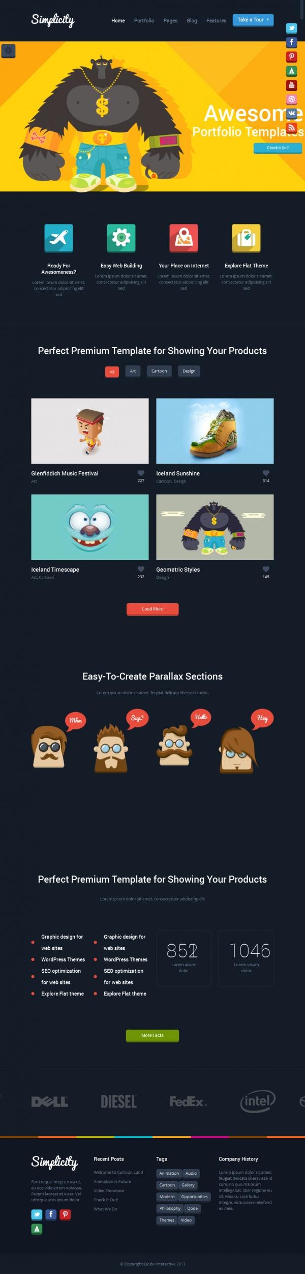 Simplicity Best Creative WordPress Themes June