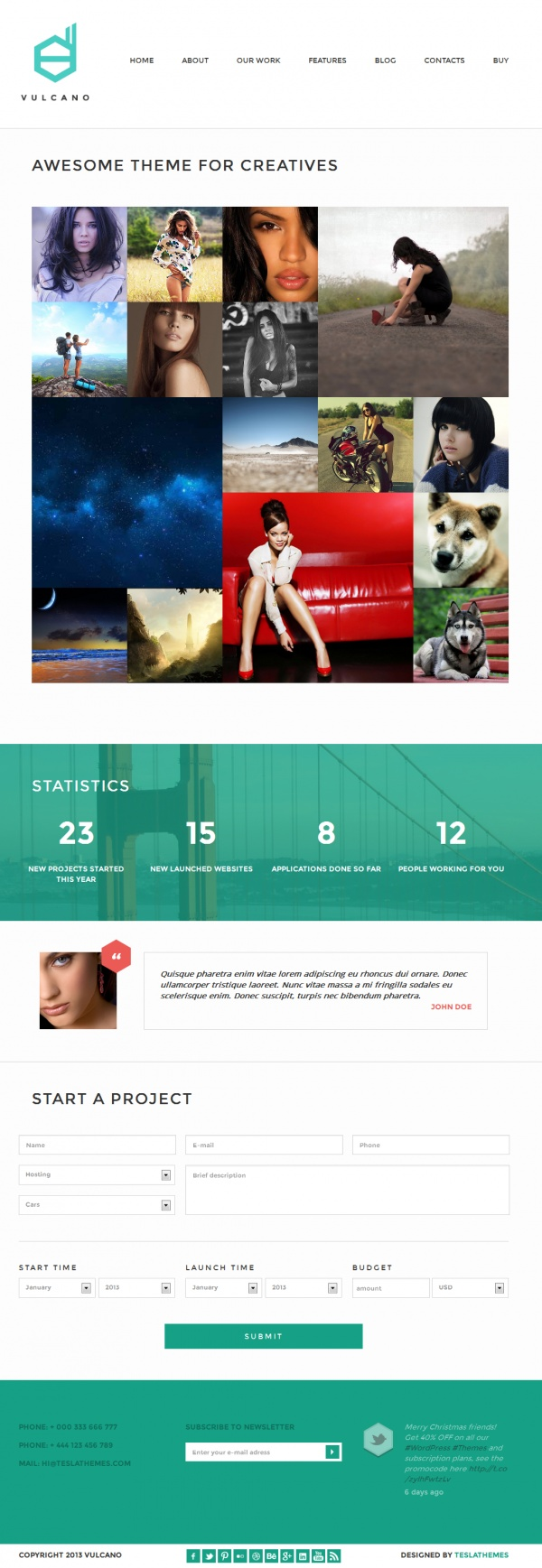 Vulcano Best Creative WordPress Themes June