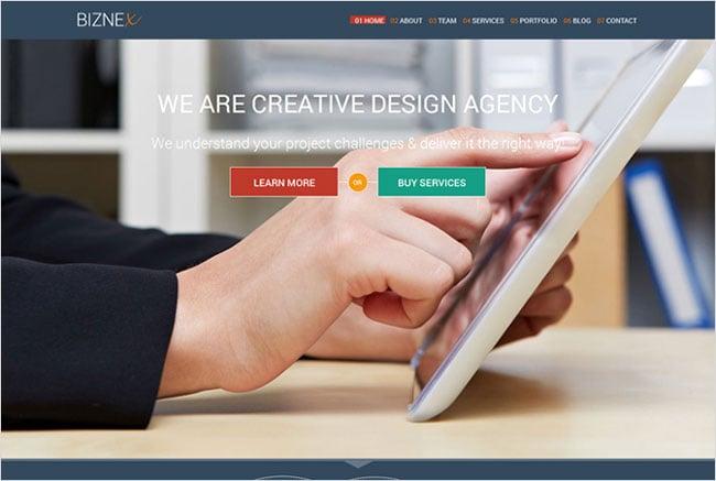 BizNex Premium WordPress Tesla Themes