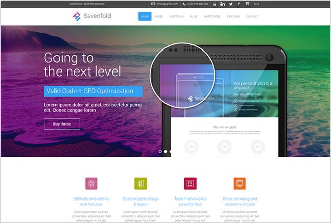 Sevenfold Premium WordPress Tesla Themes
