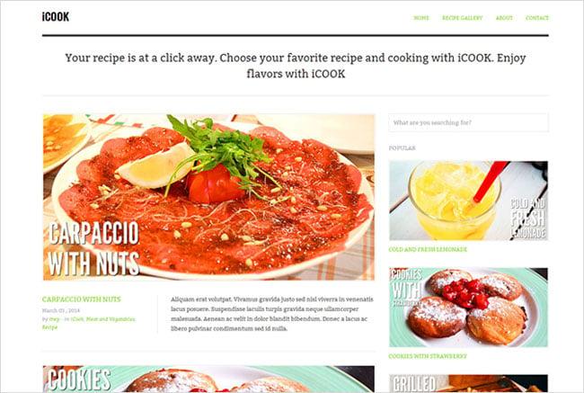 iCook Premium WordPress Tesla Themes