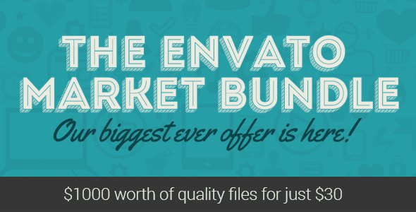 The Envato Market Bundle is on for 1 Week!