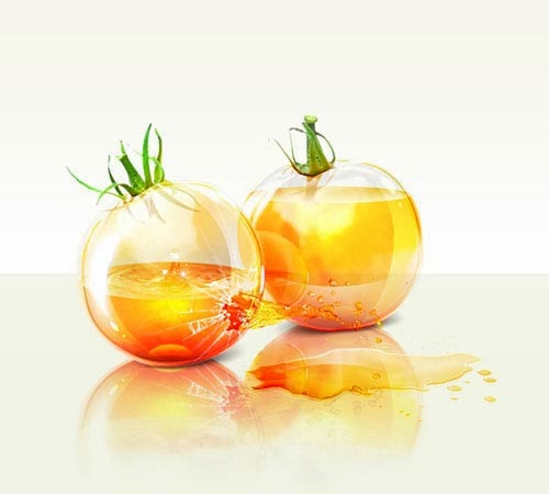 Glass Yellow Tomatoes